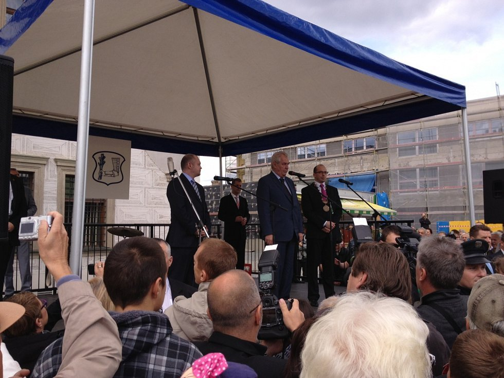 Návštěva Miloše Zemana v Kyjově.