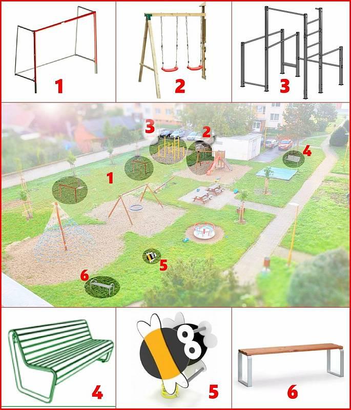 Renovace dětského hřiště na sídlišti Kovářská.