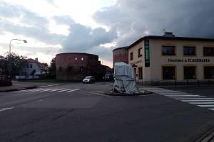 Kaplička u Veselské brány ve Strážnice v září 2017.