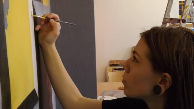 Malířka Anna Štefanovičová.
