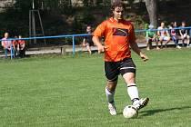 Obránce Žarošic Adam Ždánský (na snímku) se zranil v přípravném zápase s Dambořicemi a týmu z Kyjovska bude chybět.