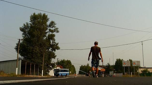 Hranice černobylské zóny vysídlení.