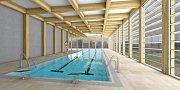 První varianta krytého bazénu počítá s tím, že by vznikla jako součást školy J. A. Komenského v ulici Újezd.