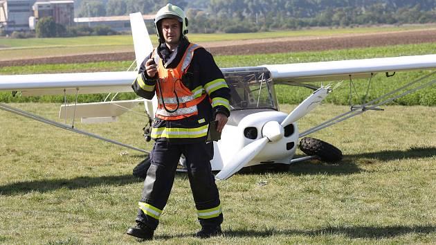 Havárie ultralehkého letadla. Ilustrační foto.