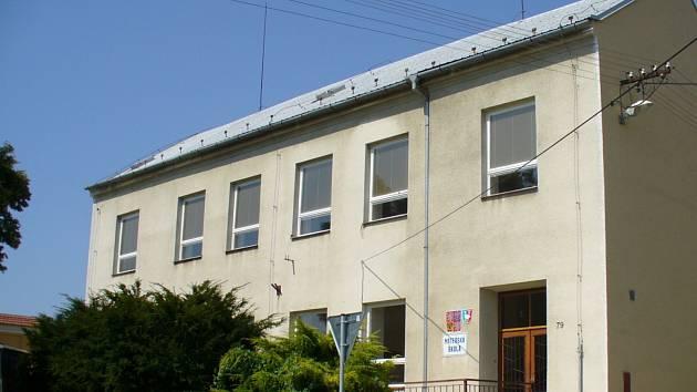 Pohled na stávající mateřskou školu v Dražůvkách.