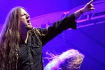 Sobotní večer na festivalu Made of Metal v Hodoníně. Na snímku skupina Leaves' Eyes.
