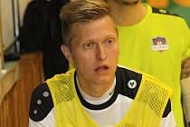 Hodonínský futsalista Jakub Gremmel (na snímku) se v pátečním zápase druhé ligy proti Ostravě střelecky neprosadil. Béčko Tanga i tak zvítězilo 4:2.