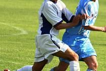 Marek Spazier (v modrobílém) se nevešel do kádru Šardic pro jarní část sezony.
