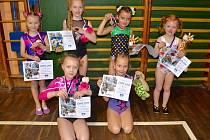 Rekordních šest medailí získaly na závodech v Pardubicích mladé hodonínské gymnastky.