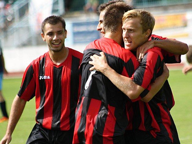 Hodonínští fotbalisté - ilustrační foto.