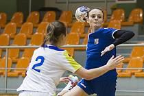 Hodonínská spojka Nikola Kalinová (na snímku) se v úterním zápase proti Slovinsku střelecky prosadila dvakrát.