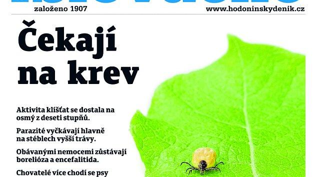 Titulní strana týdeníku Slovácko ze 24. dubna 2018.