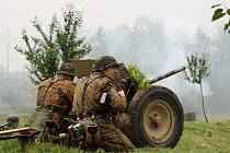 Historická ukázka bitvy z druhé světové války ve Vlkoši.