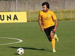 Kapitán Mutěnic Michal Vydařilý (na snímku) rozhodl nedělní domácí zápas s brněnskou Bystrcí. Vinaři zvítězili 2:1 a dál vedou krajský přebor.
