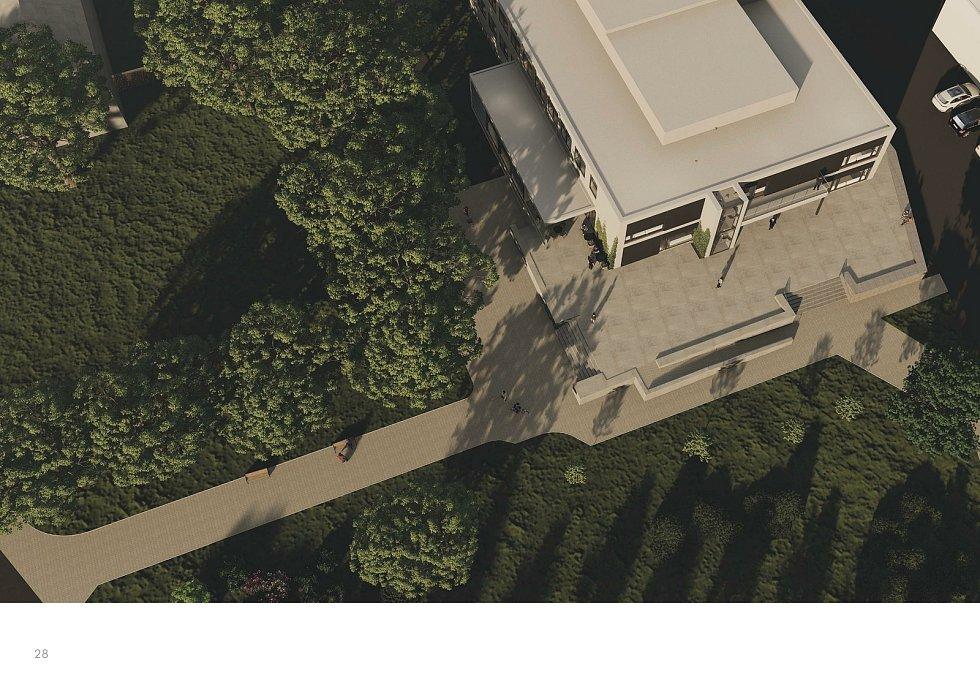 Architektonická studie modernizace kulturního domu Strážničan. Zdroj: Město Strážnice