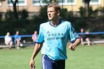 Zkušený útočník Hroznové Lhoty Petr Lipčík (na snímku) vyšel v posledním zápase letošního roku střelecky naprázdno.