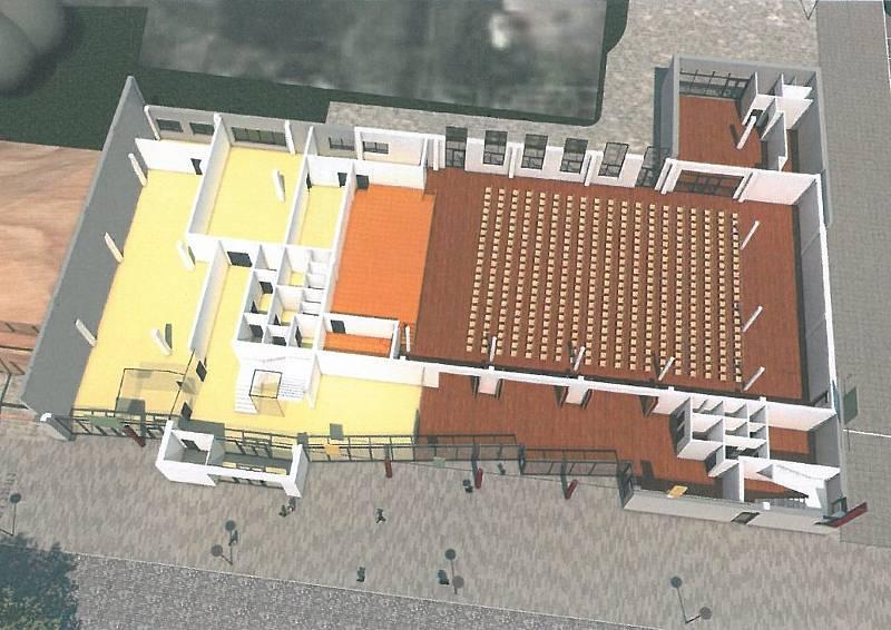 Architektonická studie výstavby multifunkčního obecního domu ve Vracově.