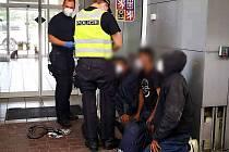 Zadržení trojice cizinců na hraničním přechodu se Slovenskem u Sudoměřic.