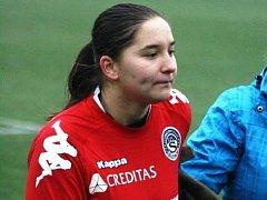 Šestnáctiletá brankářka ligového Slovácka Barbora Růžičková proti bývalému klubu z Hodonína neinkasovala.