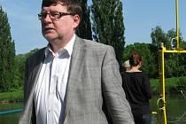 Ministr dopravy Zbyněk Stanjura (ODS) v Hodoníně.