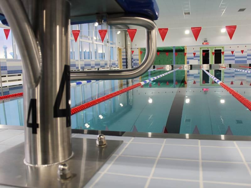 Krytý plavecký bazén v Hodoníně.