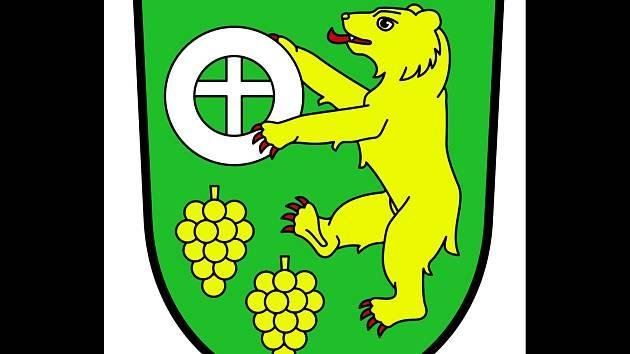 Znak obce Karlín.