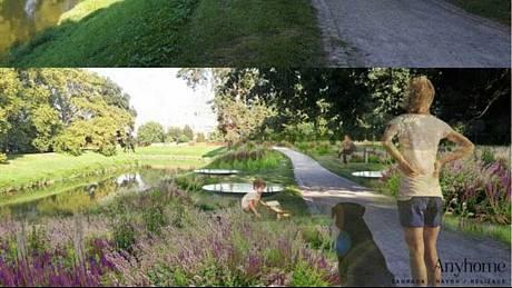 Jeden ze zatím podaných návrhů řeší květinovou výzdobu parku a místa k relaxaci ve Veselí nad Moravou.