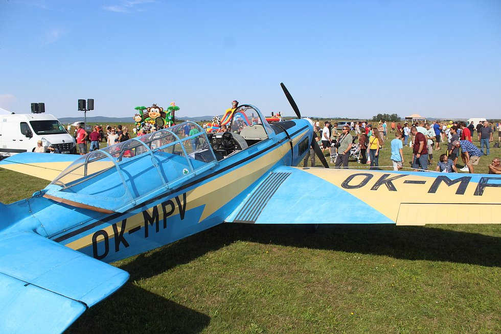 Velký letecký den, Aeroklub Kyjov si připomíná 75. výročí založení.