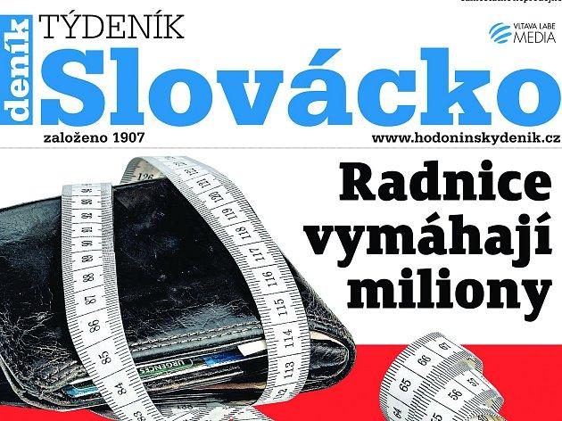 Titulní strana nově připraveného týdeníku Slovácko.