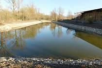 Obnova rybníka v Násedlovicích je u konce