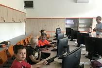V letošním roce byla na škole dokončena učebna cizích jazyků a počítačové techniky.