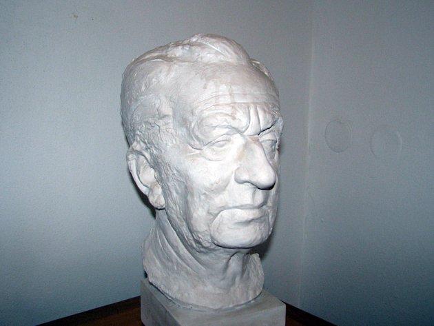 Busta Františka Kožíka od Radima Hankeho na čejkovickém zámku.
