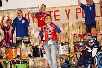 Veselští fanoušci po třetím finálovém utkání. Veselí vede na pražskou Slavií 2:1 na zápasy.