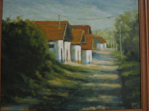 Výstava obrazů Dušana Zemana ve Veselí nad Moravou.
