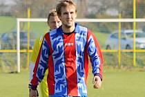 Fotbalisté Ždánic získali v okresním přeboru první bod. V Lipově remizovali 3:3. Kapitán Kova Petr Handlíř (na snímku) se mezi střelce nezapsal.