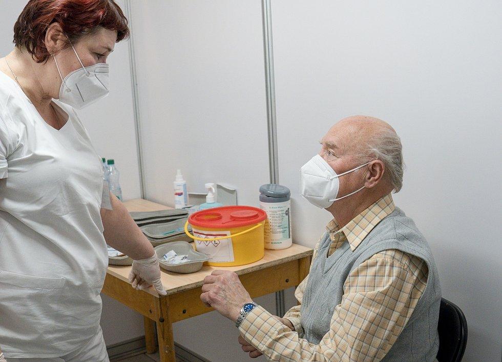 Očkovací centrum v Hodoníně.
