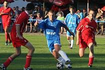 Agro Vnorovy (v červeném) vs FC Kyjov.