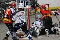 Hodonínští hokejbalisté (v bráně) Petr Lindner - ilustrační foto.