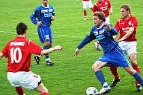 Divize D: FK Šardice (v červeném) vs Rostex Vyškov