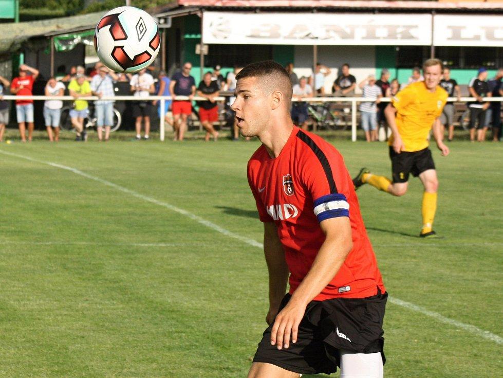 Útočník Filip Žák v posledním přípravném zápase neproměnil tři vyložené šance. Fotbalisté Hodonína i tak v Malackách zvítězili 3:1.