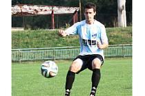 Záložník Aleš Radmil (na snímku) se na výhře fotbalistů Veselí nad Moravou nad Buchlovicemi 9:0 podílel dvěma brankami.