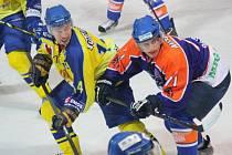 Hodonínští hokejisté doma podlehli vedoucímu Přerovu 2:3. Na výhře Zubrů se gólem a dvěma asistencemi podílel útočník David Šťastný.