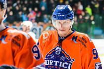 Zkušený hodonínský útočník Daniel Vaněk (na snímku) rozhodl středeční duel v Šumperku.