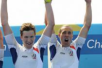 Největším úspěchem Václava Baldriána (na snímku vpravo) byl zisk juniorského mistra světa na párové čtyřce.