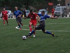 Nový tým FK Hodonín B (v červených dresech)