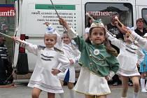 Mažoretky vystoupili k výročí města