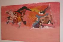 Dětský ateliér hodonínské Galerie výtvarného umění připravil expozici ilustrací malíře Tomáše Řízka z Prahy.
