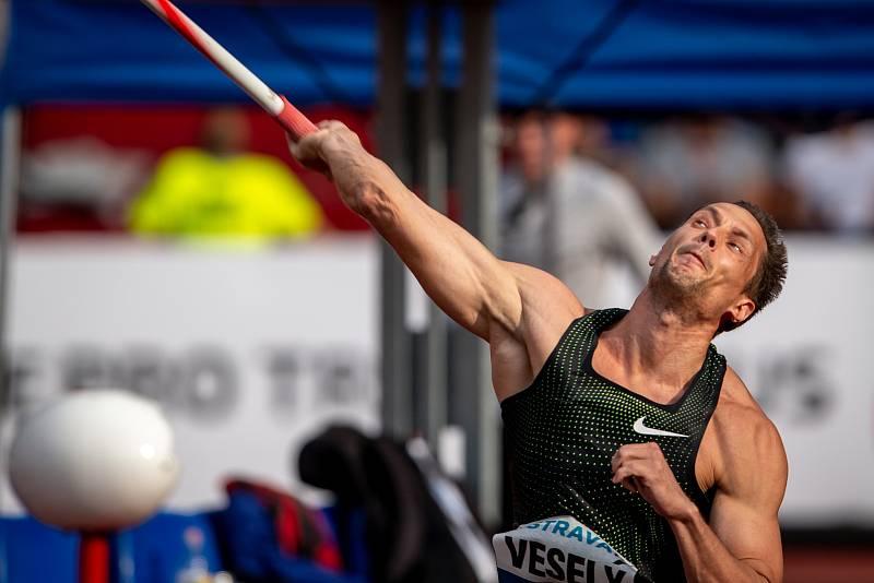 Zlatá tretra, atletický mítink IAAF World Challenge, 20. června 2019 v Ostravě. Na snímku Vítězslav Veselý.
