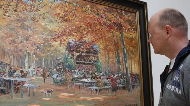 Výstava Stanislava Lolka Rapsodie volné přírody v hodonínské Galerii výtvarného umění.