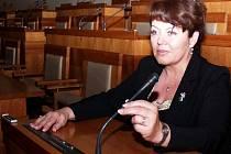 Alena Venhodová v Senátu. Ilustrační fotografie.